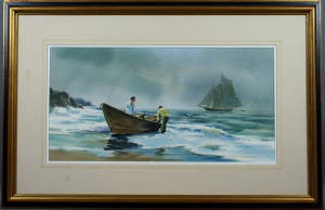 "Donald Mosher, ""Fisherman in Dory"""